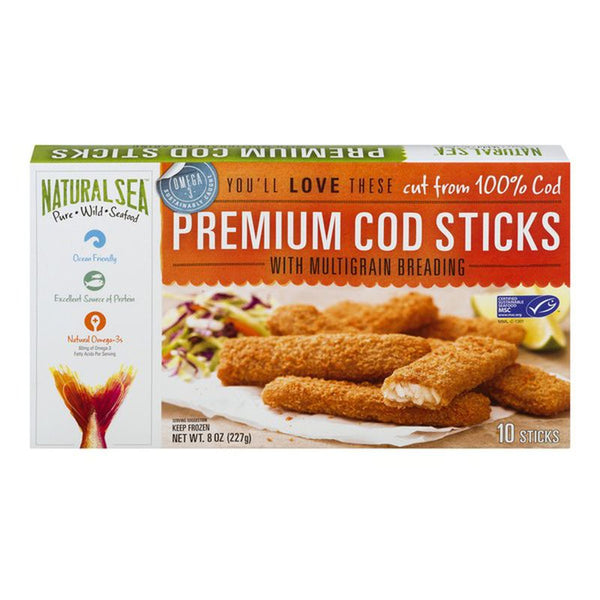 Natural Sea Premium, Cod Fillets with Multigrain Breading 10 CT 8oz (Frozen)