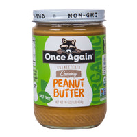 Once Again, Organic Peanut Butter Smooth No Salt 16 oz