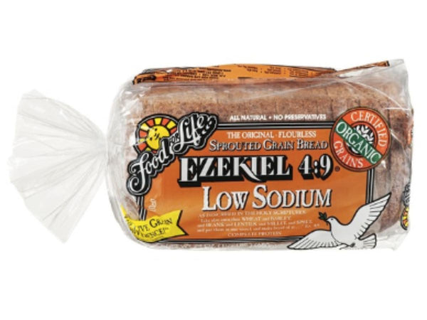 Food For Life, Ezekiel 4:9 Low Sodium Organic Sprouted Whole Grain Bread 24 oz (Frozen)