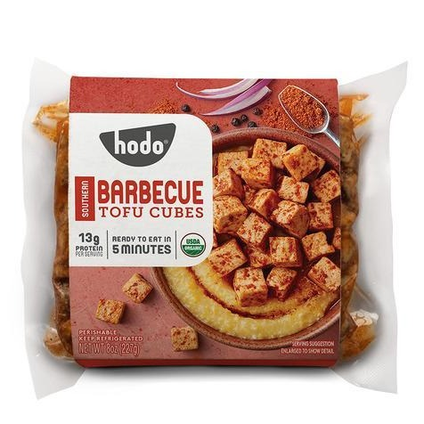 Hodo Foods, Organic Southern Barbecue Tofu Cubes 8oz (Chill)