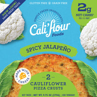 Cali'flour Foods, Cauliflower Pizza Crust Spicy Jalapeno 10oz (Frozen)