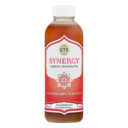 GT'S, Kombucha Strawberry Serenity 16oz (Chill)