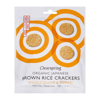 CLEARSPRING, Organic Japanese Brown Rice Crackers - Whole Sesame 40G