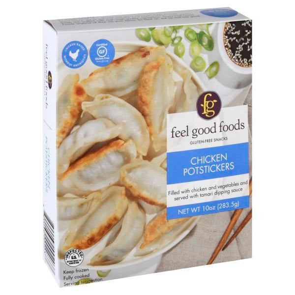 Feel Good Foods, Gluten Free Chicken Potstickers 10oz (Frozen)