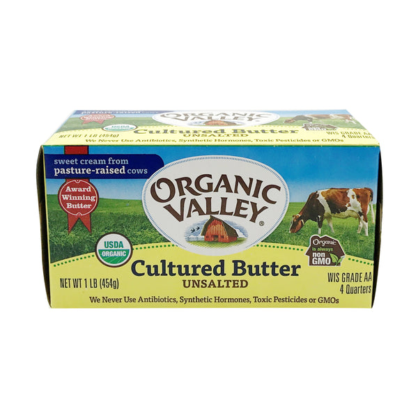 Organic Valley, Organic Cultured Unsalted Butter 16oz (Chill)