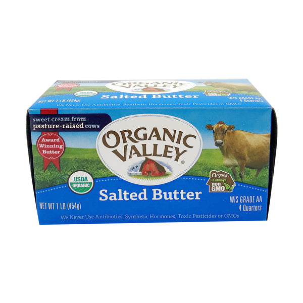 Organic Valley, Organic Salted Butter 16oz (Chill)