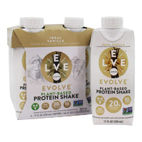 EVOLVE, Ideal Vanilla Protein Shake 11oz *4 Packs*