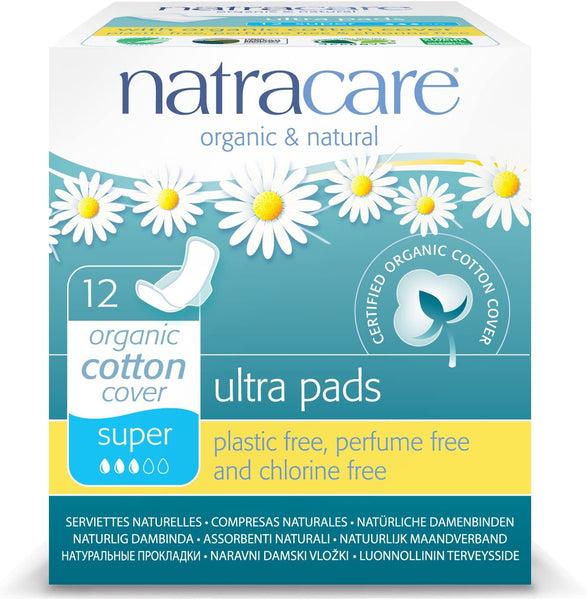 Natracare, Organic and Natural Ultra Super Period Pads 12Ct