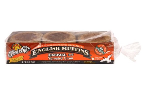 Food For Life, Ezekiel 4:9 Sprouted Organic Whole Grain English Muffins 16 oz (Frozen)
