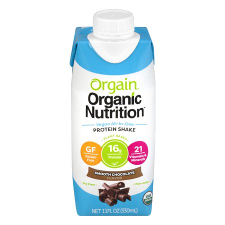 Orgain, Vegan All-in-One Smooth Chocolate Protein Shake 11oz