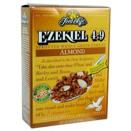 Food For Life, Ezekiel 4:9 Organic Almond Sprouted Whole Grain Cereal 16oz