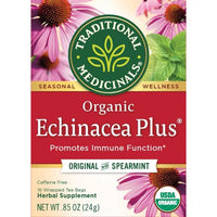 Traditional Medicinals, Organic Echinacea Plus Original with Spearmint 16Ct