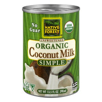 Native Forest, Organic Unsweetened Simple Coconut Milk 13.5oz