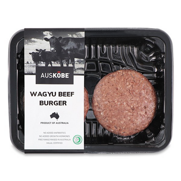 AUSKOBE, Wagyu Beef Burger 2 patties 240g (Frozen)