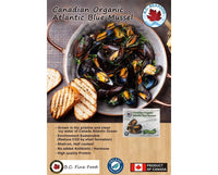 BC FINE FOOD, Canadian Organic Atlantic Blue Mussel 454g (Frozen)