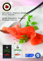 BC FINE FOOD, Canadian Smoked Organic King Salmon 85g (Frozen)