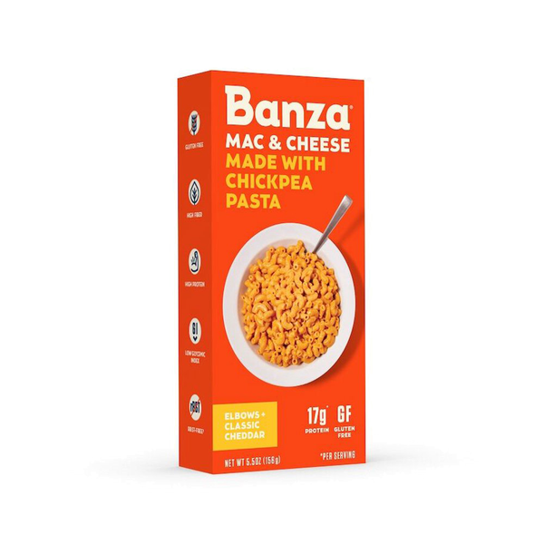 Banza, Mac & Cheese Chickpea Elbows Classic Cheddar 5.5oz
