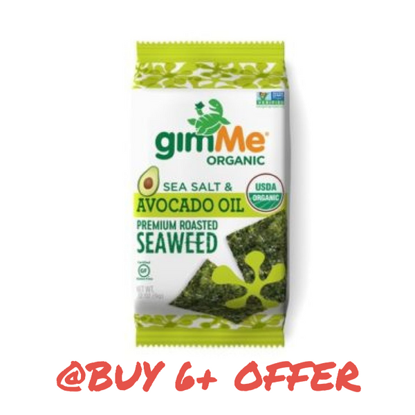 gimMe Snacks, Organic Roasted Seaweed Sea Salt & Avocado Oil 0.17oz