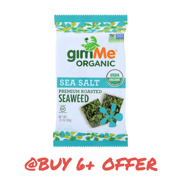 gimMe Snacks, Organic Roasted Seaweed Sea Salt 0.17oz