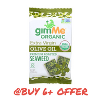 gimMe Snacks, Organic Roasted Seaweed Extra Virgin Olive Oil 0.17oz