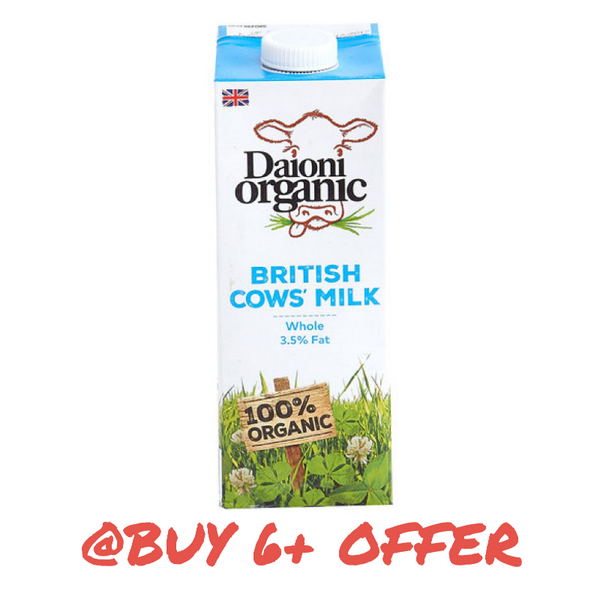 DAIONI, Organic Whole Milk 1L