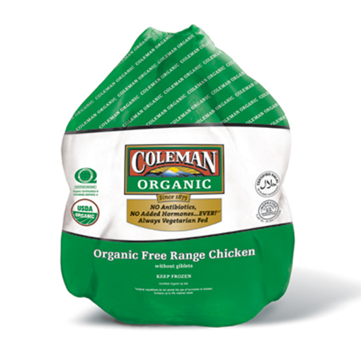 Coleman, Organic Whole Chicken 4 lbs (Frozen)