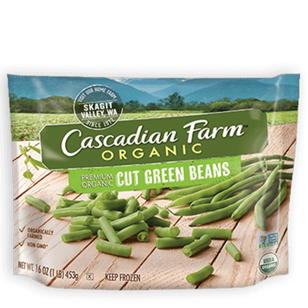 Cascadian Farm Organic, Cut Green Beans 16oz (Frozen)