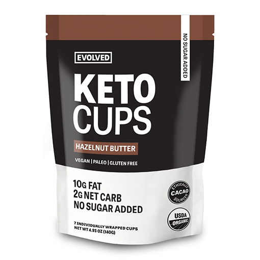 Evolved Chocolate, Hazelnut Butter Keto Cups 4.93oz (Chill)