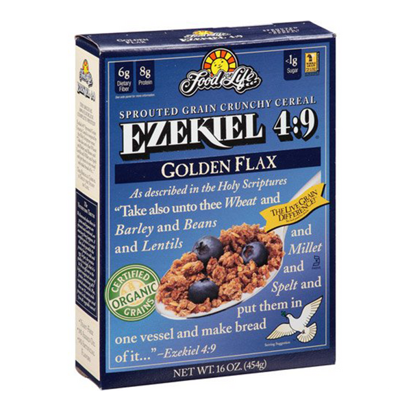 Food For Life, Ezekiel 4:9 Organic Golden Flax Sprouted Grain Crunchy Cereal 16oz
