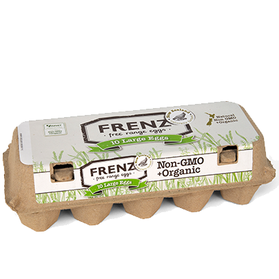 FRENZ, Free-Range Organic Eggs (Large) pack of 10 eggs (Chill)