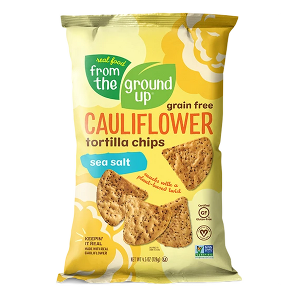 From The Ground Up, Cauliflower Tortilla Chips Sea Salt 4.5oz
