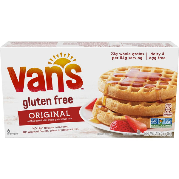 Van's, Gluten Free Whole Grain Waffles 6ct 9oz (Frozen)