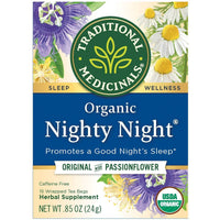 Traditional Medicinals, Organic Nighty Night Original with Passionflower 16Ct