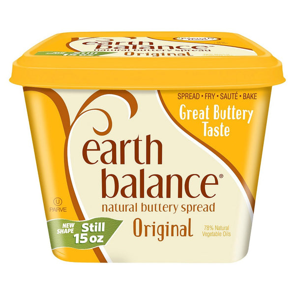 Earth Balance, Dairy Free Original Natural Buttery Spread 15oz (Chill)
