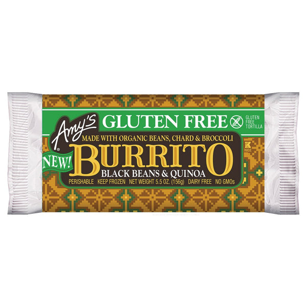 Amy's, Gluten Free Black Beans And Quinoa Burrito 5.5 oz (Frozen)