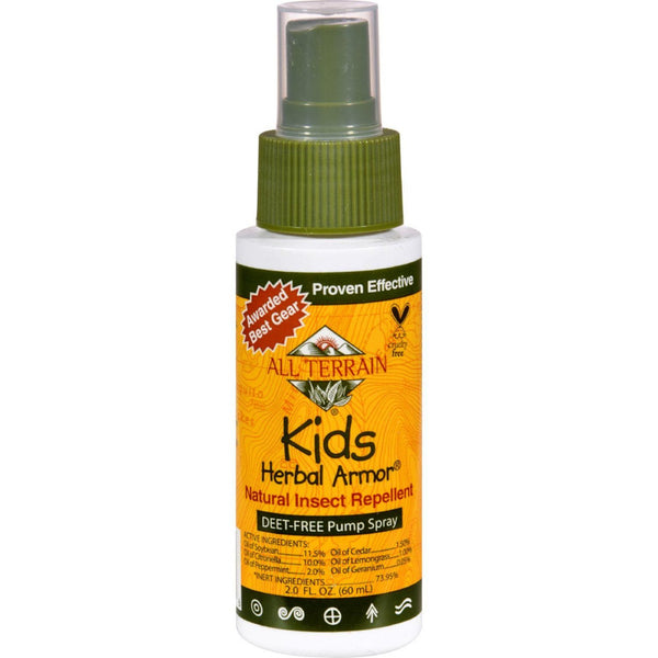All Terrain, Kids Herbal Armor DEET-free Natural Insect Repellent 2oz