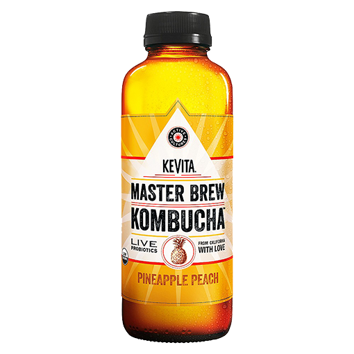 KEVITA, Kombucha Pineapple Peach 15.2oz (Chill)