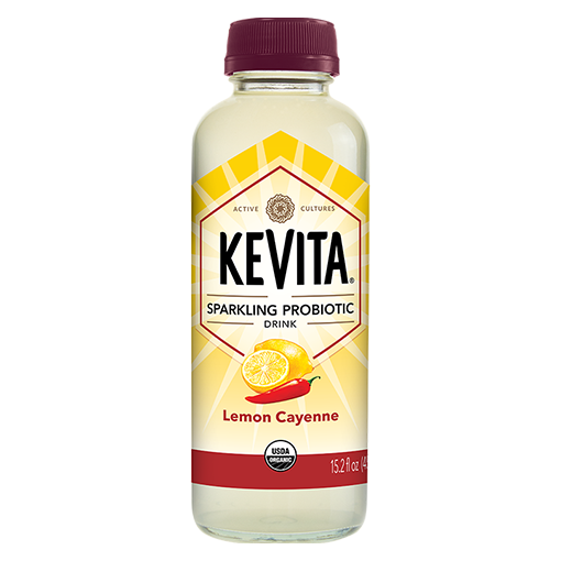 KEVITA, Sparkling Probiotic Drink Lemon Cayenne 15.2oz (Chill)