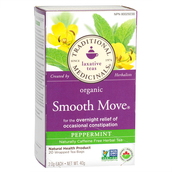 Traditional Medicinals, Laxative Teas Organic Smooth Move Peppermint 16Ct