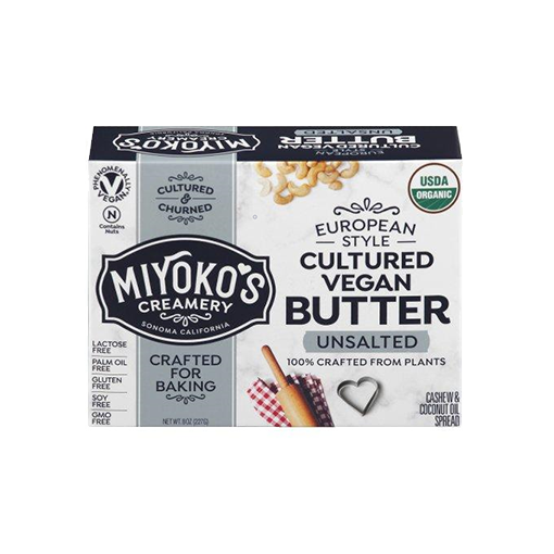 Miyoko's Creamery, European Style Unsalted Cultured Vegan Butter 8 oz (Chill)