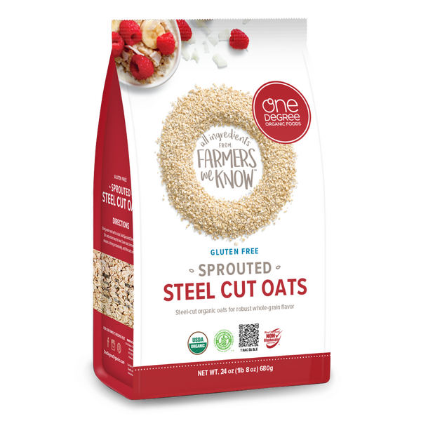 One Degree, Organic Gluten Free Sprouted Steel Cut Oats 24oz