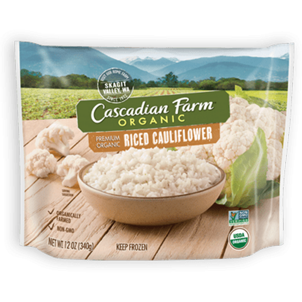 Cascadian Farm Organic, Riced Cauliflower 12oz (Frozen)