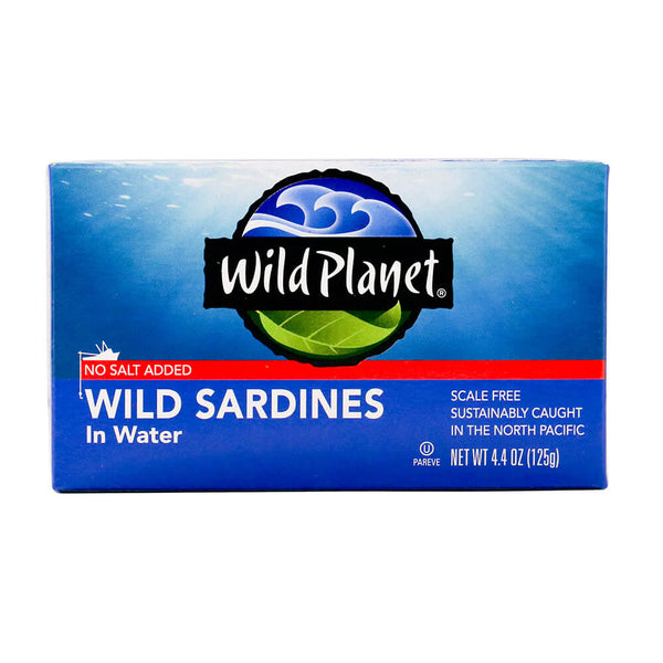 Wild Planet, Wild Sardines in Water No Salt Added 4.4oz