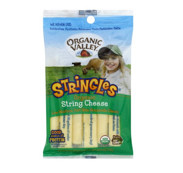 Organic Valley, Low-Moisture Part Skim Milk Mozzarella Cheese Stringles 6oz (Chill)