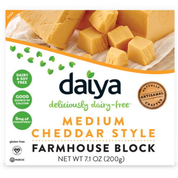 Daiya, Dairy Free Medium Cheddar Style Farmhouse Block 7.1 oz (Chill)