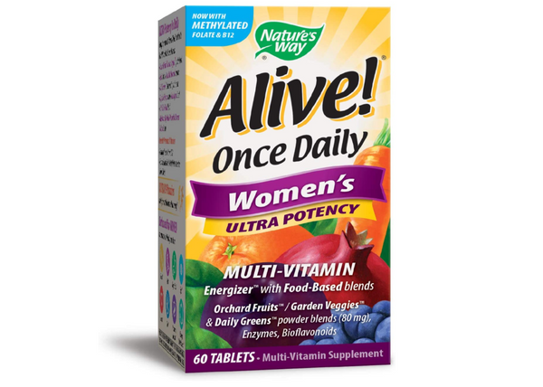 Nature's Way, Alive! Once Daily Women's Ultra Potency Multivitamin 60 Tablets