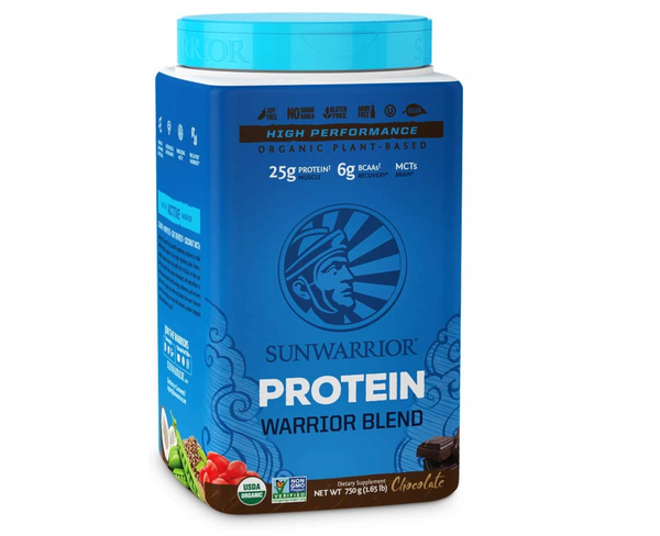 Sunwarrior, Warrior Blend Plant-Based Organic High Performance Protein Powder Chocolate 1.65lb