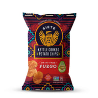Siete, Gluten Free Kettle Cooked Potato Chips Fuego 5.5oz