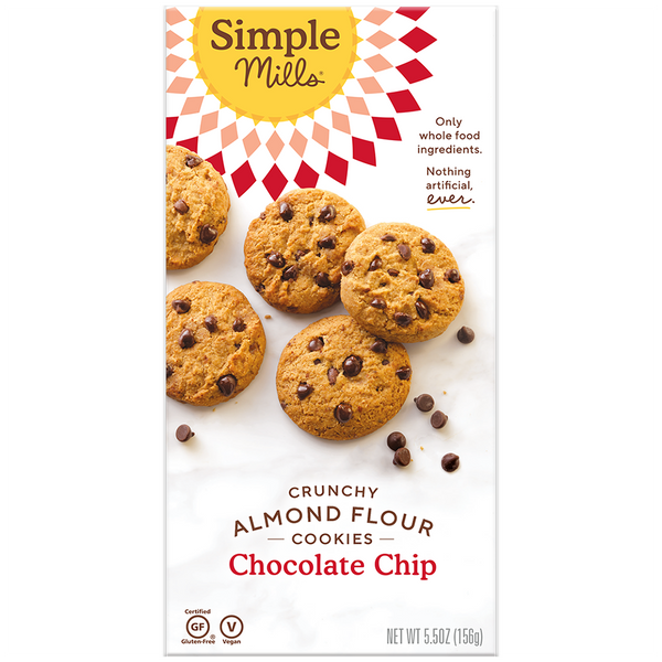 Simple Mills, Crunchy Chocolate Chip Cookies 5.5oz