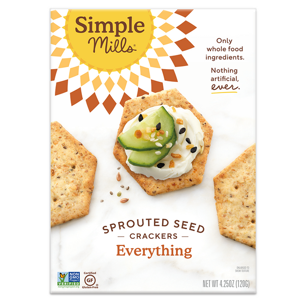 Simple Mills, Everything Sprouted Seed Crackers, 4.25oz